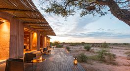 Terrace at Onguma Plains Camp (The Fort) in Etosha (Anderson Gate), Namibia