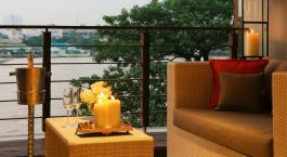 Balcony at Riva Surya Hotel in Bangkok, Thailand