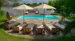 Pool at Kanyemba Island Bush Camp Hotel in Lower Zambezi, Zambia