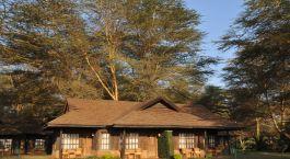 Außenansicht im Hotel Ol Tukai Lodge in Amboseli, Kenya