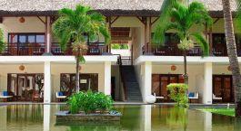Außenansicht des Blue Ocean Resort Hotel in Mui Ne, Vietnam