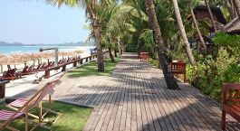 Enchanting Travels - Myanmar Reisen - Ngapali Strand -Amata Resort - Strandaussicht
