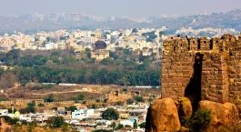 Blick vom Golkonda Fort
