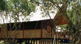 Exterior view of Queen Elizabeth Bush Lodge in Queen Elizabeth, Uganda