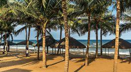 Beach view of Ideal Beach Resort in Mamallipuram, South India