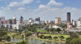 Skyline von Nairobi in Kenia