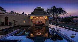 Outdoor area at Evolve Back Kamalapura Palace Hampi Hotel in Hampi, South India