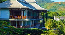 External view at L'Archipel Hotel Deluxe in Praslin Island, Seychelles