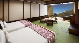 Zimmeraussicht im Hotel Hakone Kowakien Tenyu in Hakone, Japan
