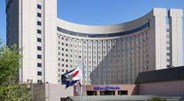Exterior view of Hotel Hilton Narita Airport in Tokyo, Japan