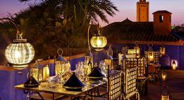 Abendessen im Riad Farnatchi in Marrakesch, Marokko