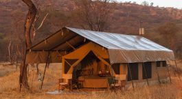 Zelt- Schlafbereich im Ndutu Kati Kati Tented Camp im südlichen Serengeti, Tansania