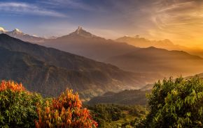 Annapurna Himalayas near Pokhara in Nepal Holiday