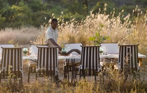 Ruaha National Park, Kwihala camp, Lunch Setup, Tanzania, Africa