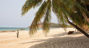 Ngapali Strand mit Palmen
