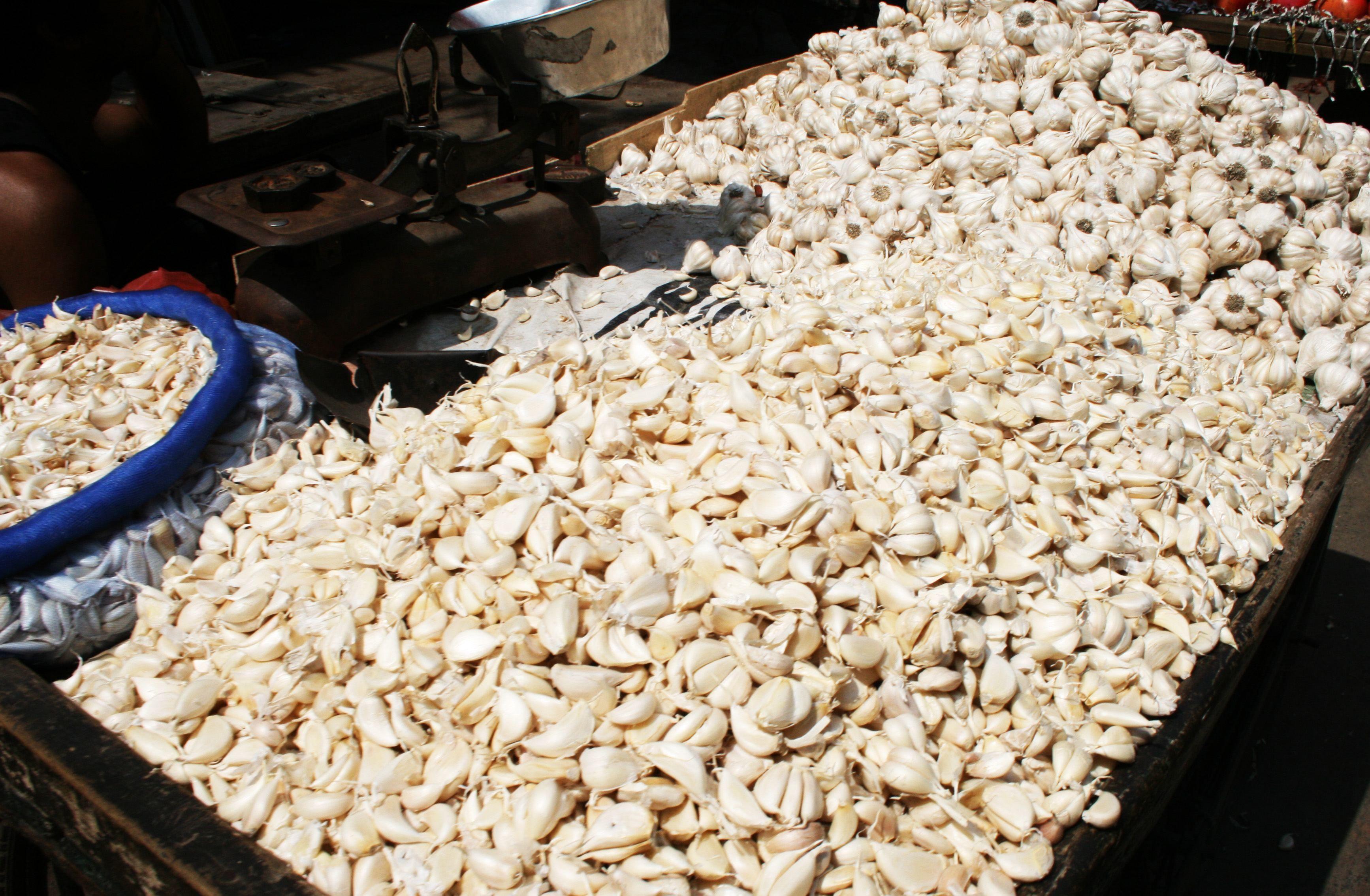 Knoblauch ist einer der Bestseller auf indischen Märkten
