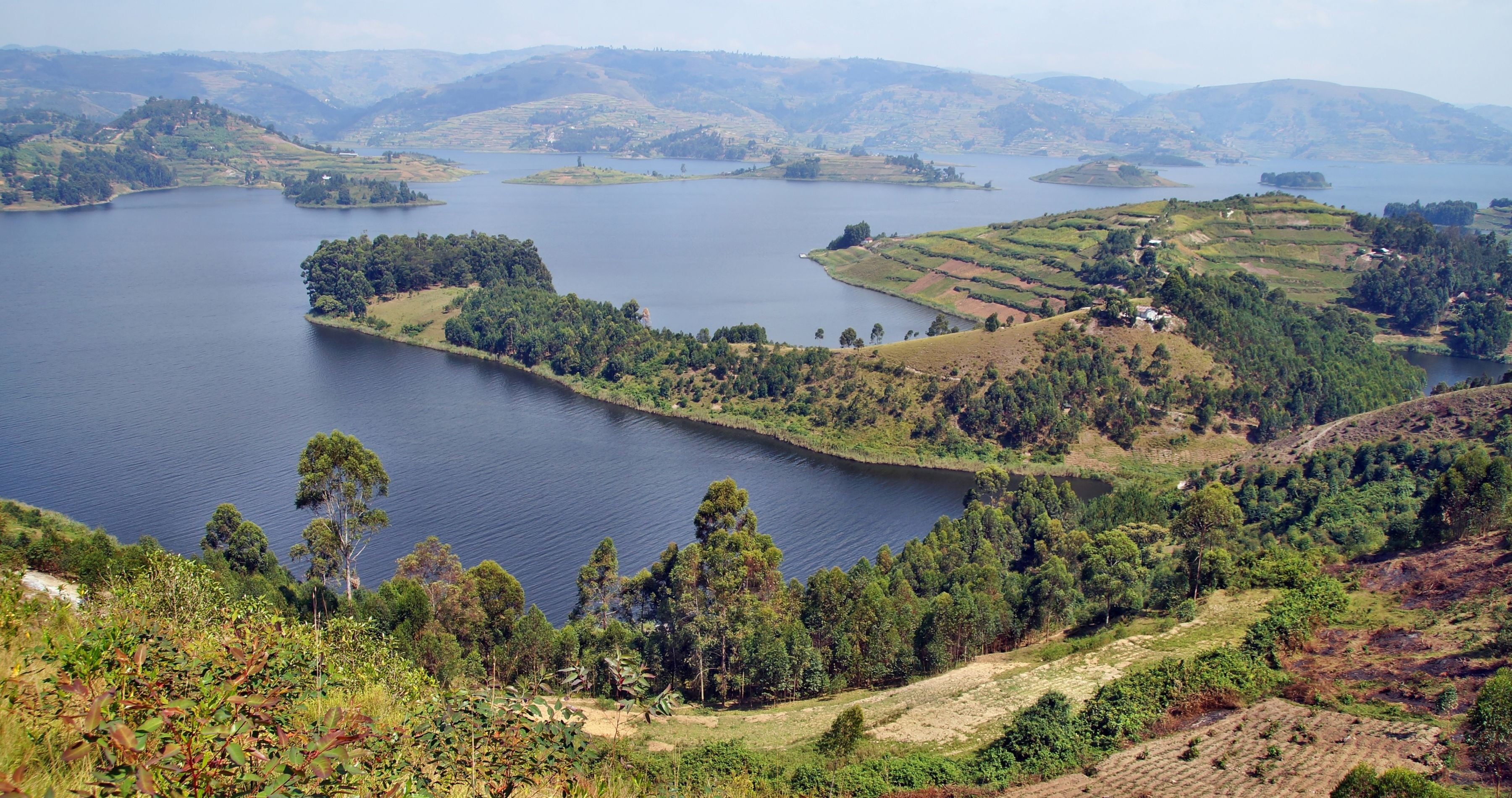 Peninsula on Lake Bunyonyi in Uganda, Africa - Uganda travel guide