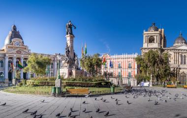 Enchanting Travels Bolivia Tours Plaza Murillo, Bolivian Palace of Government and Metropolitan Cathedral - La Paz, Bolivia