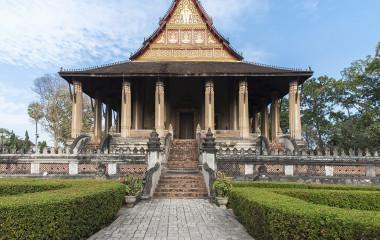 Tempel in der Hauptstadt von Laos
