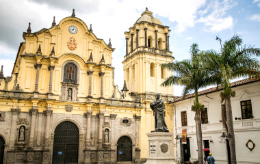 catholic church white city popayan colombia south america