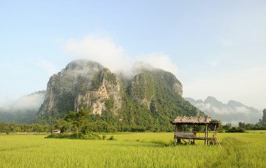 Schone Landschaft in Laos
