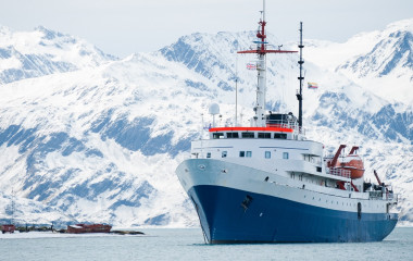 Enchanting Travels South America Tours Cruise ship, on an expedition to Antarctica