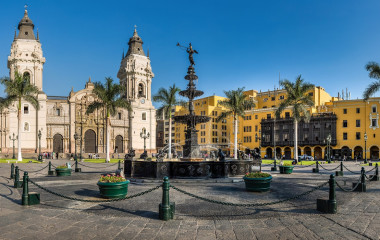 Lima's main square and church