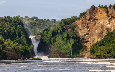 The famous Murchsion Falls in Uganda, Africa