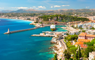 View of Nice, mediterranean resort, Cote d'Azur, France Tours, Enchanting Travels