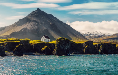 sunny day in Iceland