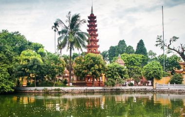 Enchanting Travels Vietnam Tours pagoda of Tran Quoc temple in Hanoi, Vietnam