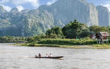 Traumhafte Natur in Vang Vieng, Laos
