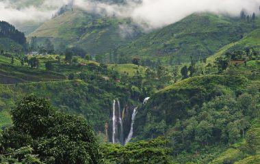 Traumhafte Wasserfälle von Nuwara Eliya in Sri Lanka