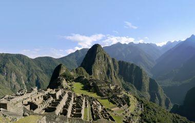 Ausblick über den Macchu Picchu Peru