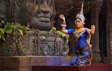 Traditional dancer, Cambodia, Asia