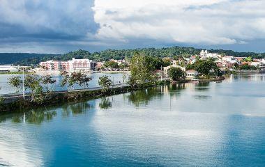 Enchanting Travels Guatemala Tours Panoramic view at Peten Iitza lake in Flores
