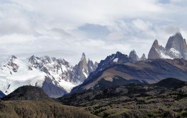 Stunning mountains of Los Glaciares National Park in El Chaltén, Argentina