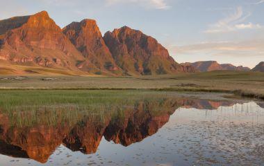 Rock Pools and Peaks, Lesotho, Africa