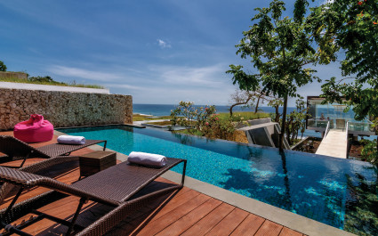 Private pool at Anantara Uluwatu Bali Resort Hotel in Uluwatu, Indonesia