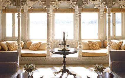 Lounge im Hotel Taj Lake Palace, Udaipur