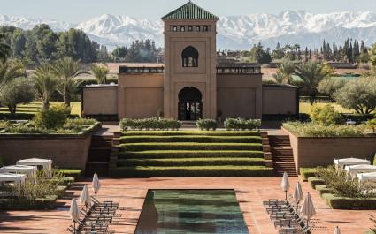 Exterior view of Selman Marrakech Hotel in Marrakech, Morocco