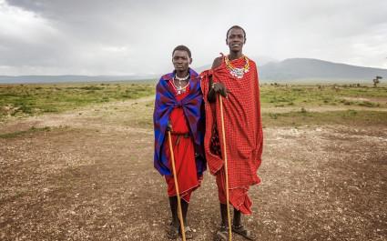 Maasai Tribesmen near Ngorongoro Conservative area,Tanzania