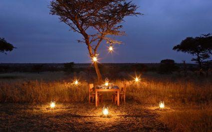 Dinner at Naboisho Camp, Masai Mara, Kenya