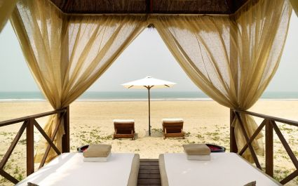 Deckchairs at the beach at Park Hyatt Goa Resort & Spa in Goa, Central & West India