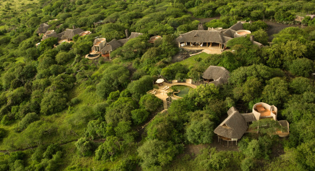 Overview of hotel Ol Donyo Lodge in Chyulu Hills, Kenya