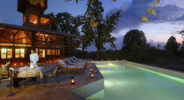 Pool at Pench Tree Lodge in Pench, Central & West India