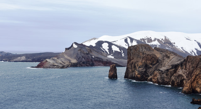 Neptune's Bellows from Deception Island, Antarctica