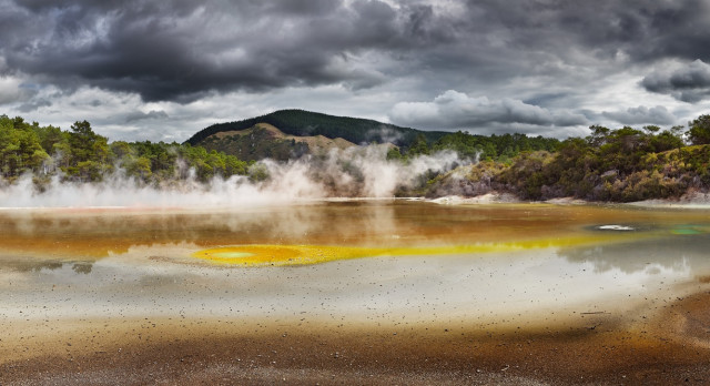 Artist's Palette Pool in Waiotapu Thermal Enchanting Travels New Zealand Tours Reserve, Rotorua, New Zealand