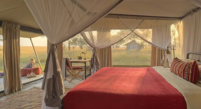 Enchanting Travels Tanzania Tours Serengeti Hotels kimondo-camp-bedroom-view