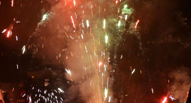 Diwali crackers during India tour